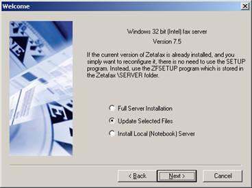 INFO: Moving a Zetafax installation