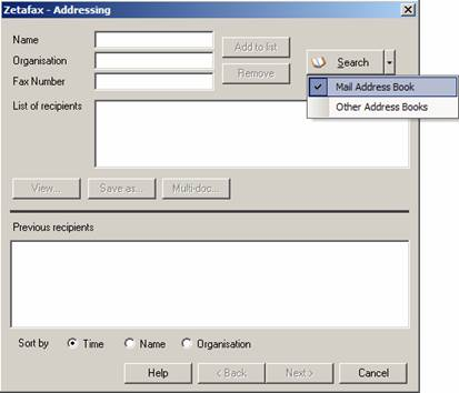 HOWTO: Send faxes to contacts stored in the outlook address