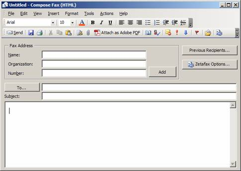 Howto Send Faxes To Contacts Stored In The Outlook Address Book