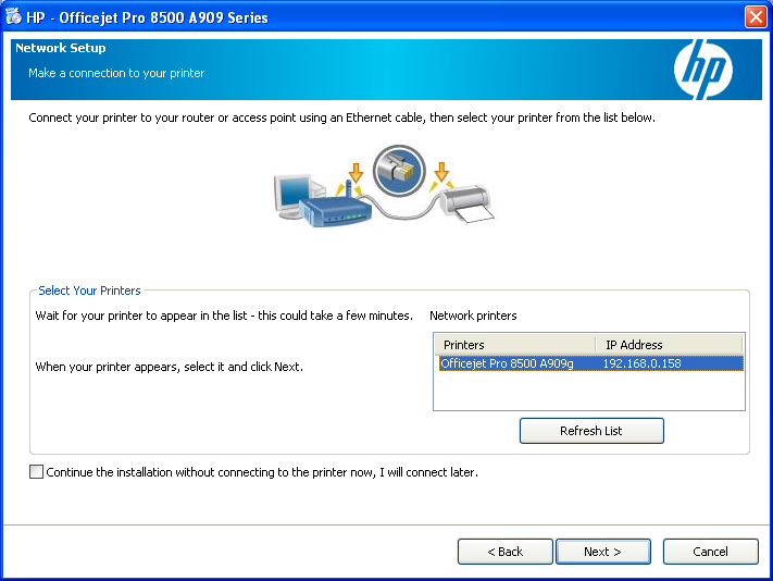 HOWTO: Configure a HP OfficeJet 8500 Multi Function Printer for