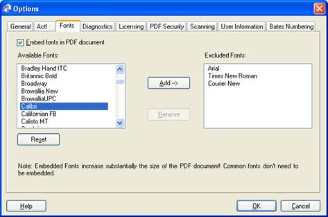 reducing size of pdf filer